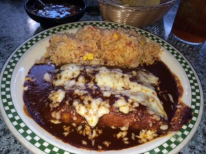 Love the mole chicken enchiladas at Chico's Cantina!