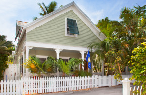 A picture-postcard Key West cottage.