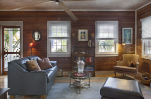 We love the original Dade County pine walls.