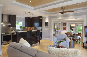 We love the contemporary designer style and open floor plan!