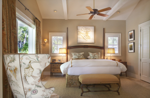 The exquisite master suite is divine.