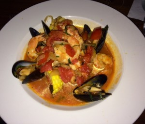 The seafood bouillabaisse special is a hit!