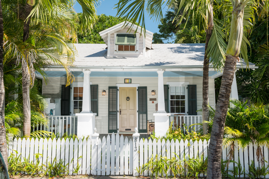 We love 813 Frances Street's classic Key West front porch.