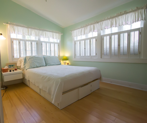We love the sunny master bedroom.