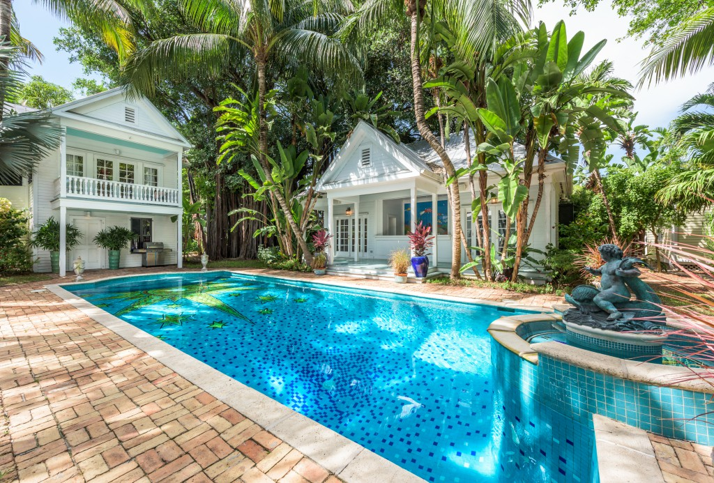 July 2015 our key west for Garage pool house