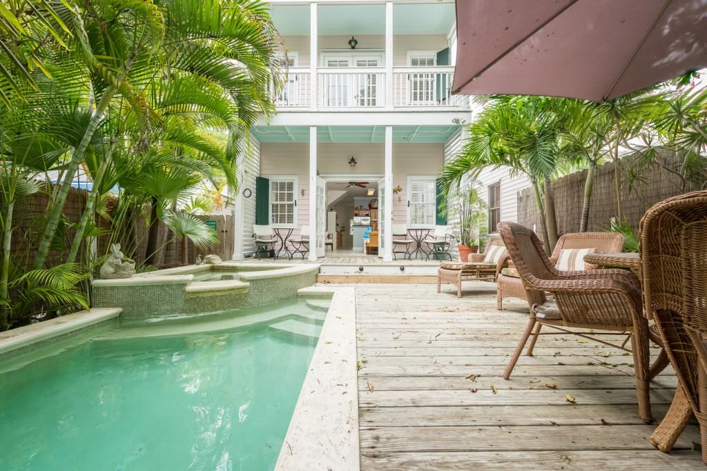Indoor/outdoor living at its best:  708 Chapman Lane in Key West.