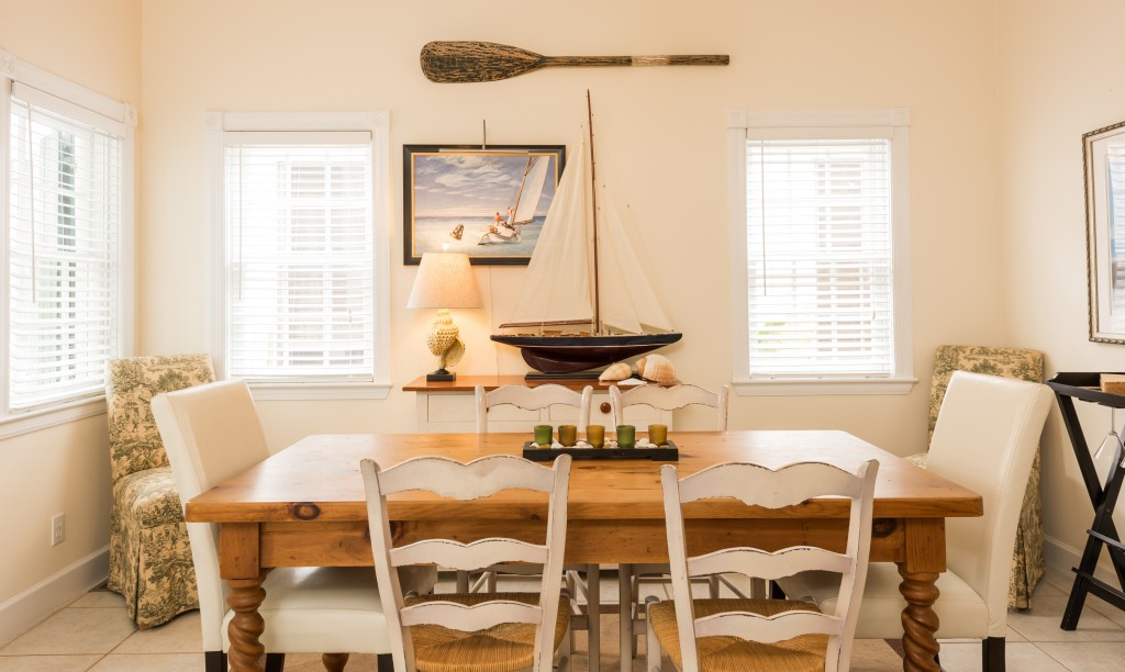 Island style envelopes the home.