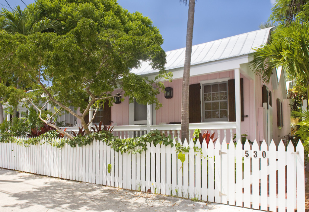 One of the most charming cottages in Old Town Key West, 530 Grinnell Street as seen today.
